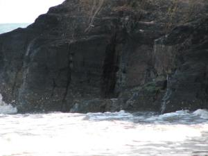 Coal Outcrop in Bunati Beach